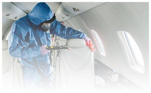 Sprzątanie, czyszczenie samolotów